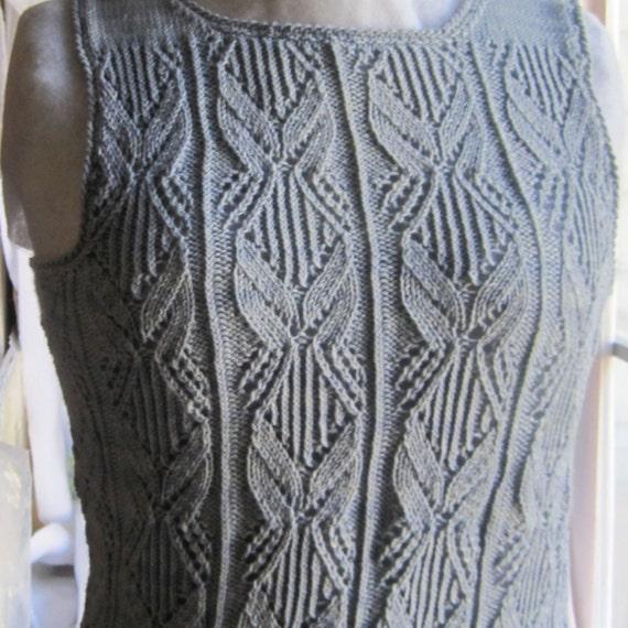 Knit Tank Top Pattern The Venetry Tank Top Knitting Pattern Etsy