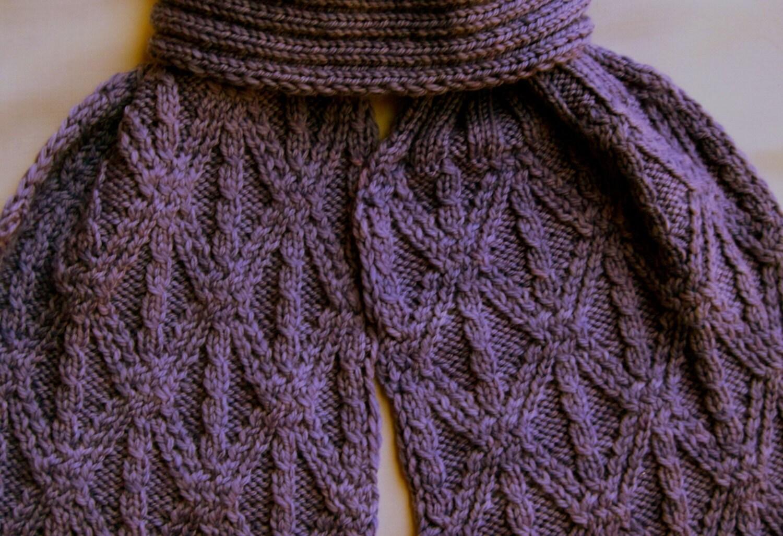 Knit Scarf Pattern Grecian Twist Stitch Turtleneck Scarf Etsy