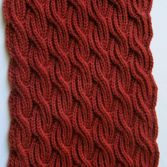 Knit Scarf Pattern Brioche Cabled Turtleneck Scarf Knitting Etsy