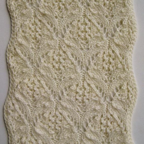 Knit Scarf Pattern Kazuna Turtleneck Lace Scarf Knitting Etsy