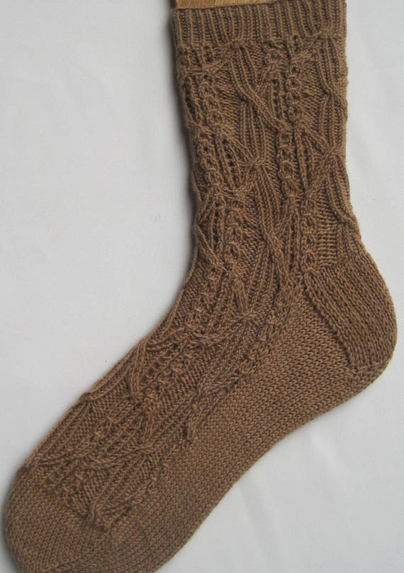 Knit Sock Pattern Nara Cabled Socks Knitting Pattern Etsy