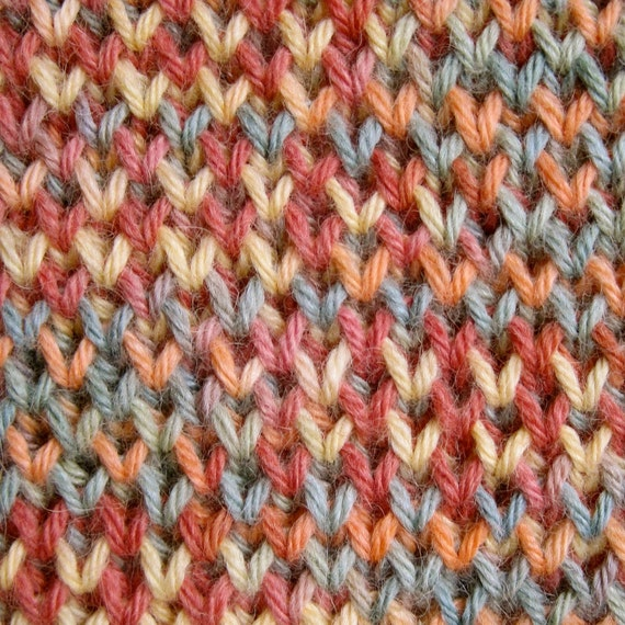 Knit Scarf Pattern Single And Double Brioche Stitch Scarf Etsy