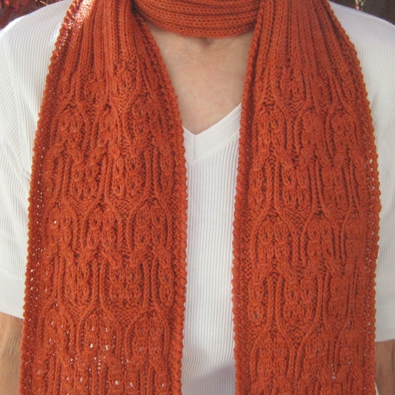 Knit Scarf Pattern Giro Mock Cable Scarf Knitting Pattern Etsy