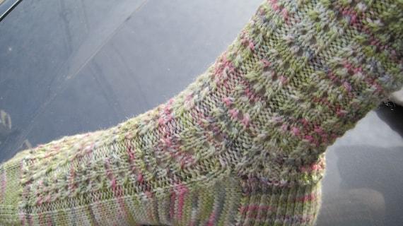 Knit Sock Pattern Easy Eyelet Knitting Sock Pattern
