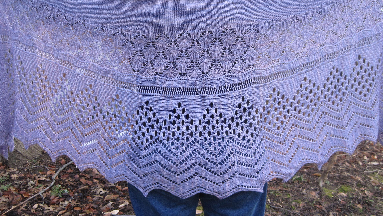 Melrose Long Wingspan Shawl: Melrose Crescent Shawl Knitting | Etsy