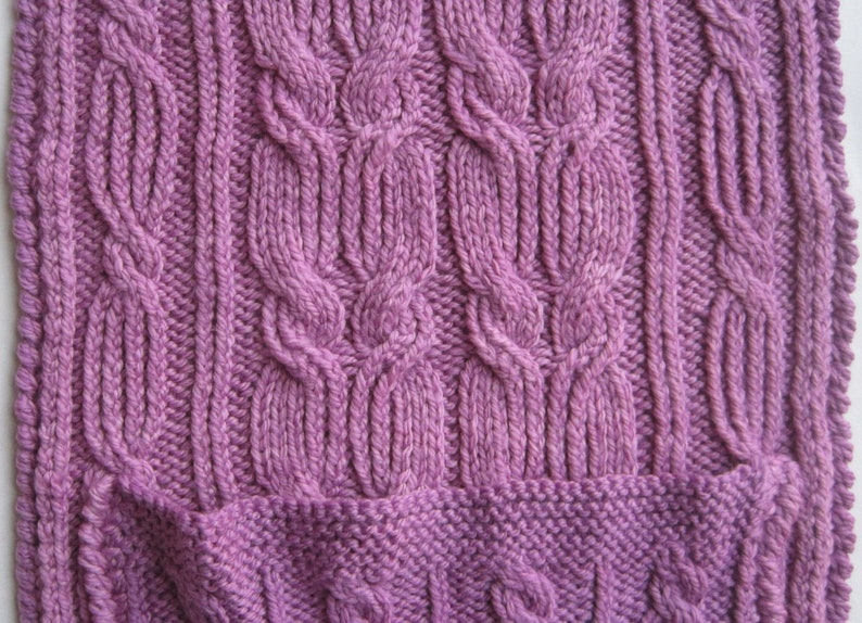 Knit Scarf Pattern: Cozy Cabled Pocket Scarf Knitting ...