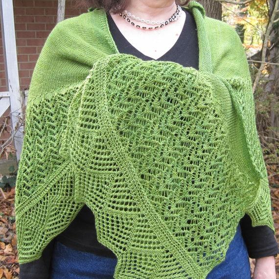 Knit Shawl Pattern: Baja Long Wingspan Crescent Shawl | Etsy