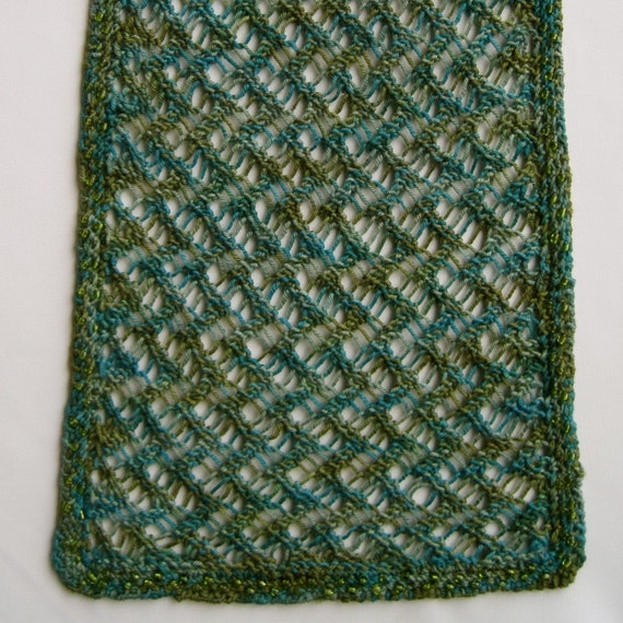 Knit Scarf Pattern Sandys Light Weight Lace Scarf With Etsy