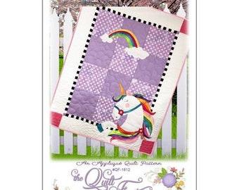 Urbi Unicorn Applique Quilt Pattern