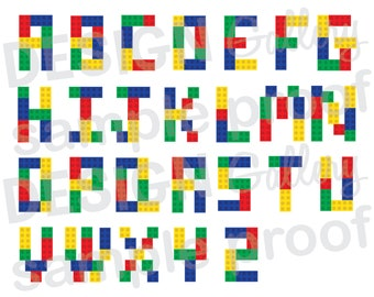 picture about Lego Font Printable titled Lego font Etsy
