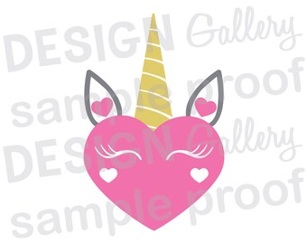 Unicorn Face Jpg Png Svg Dxf Cut File Printable Etsy