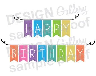 Birthday Banner Svg Etsy