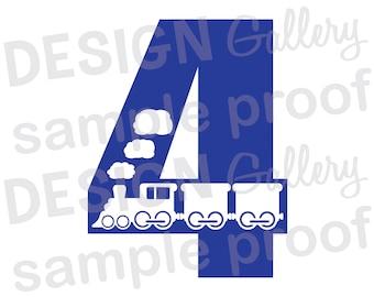 4 - Train - JPG, png & SVG, DXF cut file, Printable Digital, choo choo - Instant Download
