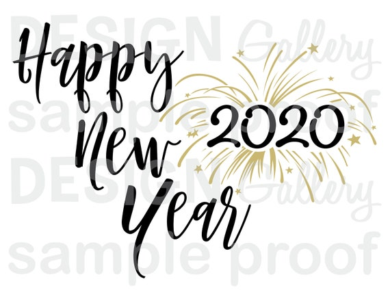 Happy New Year 2020 Svg Dxf Cut Jpg Png Image Files Christmas Nativity Baby Jesus Printable Digital Iron On