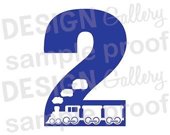 2 - Train - JPG, png & SVG, DXF cut file, Printable Digital, choo choo - Instant Download