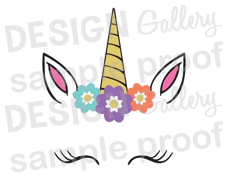 graphic about Unicorn Face Printable known as Unicorn Facial area - JPG, png SVG, DXF reduce report, Printable Electronic, bouquets, lashes - Quick Obtain