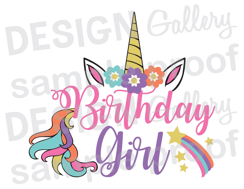 Birthday girl unicorn jpg png svg dxf cut file etsy zoom izmirmasajfo