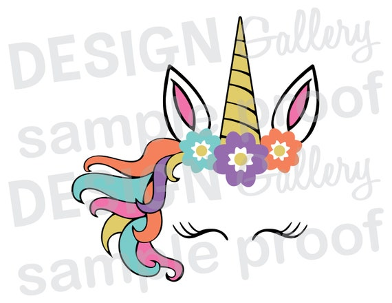 Vibrant image regarding unicorn face printable