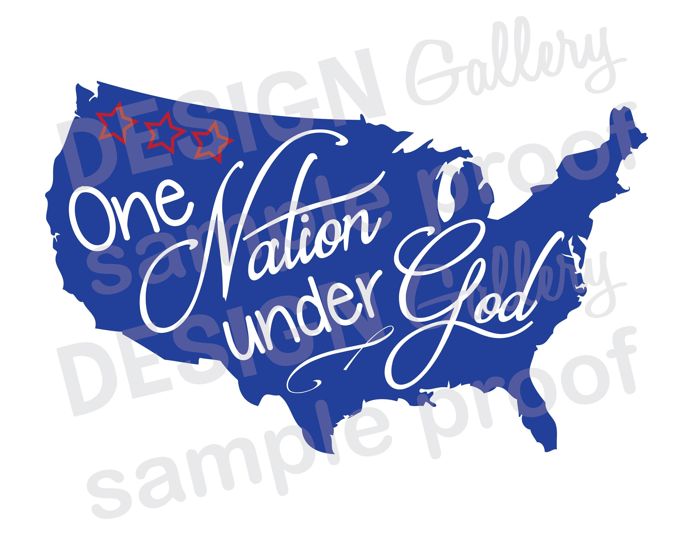 046b352cfb674 One Nation Under God jpg png image   svg dxf cut files
