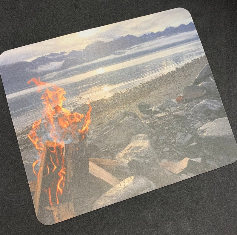 Alaskan Rocky Beach Campfire Mousepad
