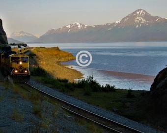 Alaska Coast Train - 5x7 PHOTO PRINT - other sizes available
