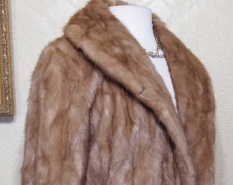 sz. 8-10 Autumn Haze MINK COAT Fur Coat Jacket