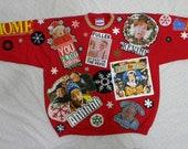 ns2 Handwashable sz xl HANDMADE HOME ALONE ugly christmas sweater
