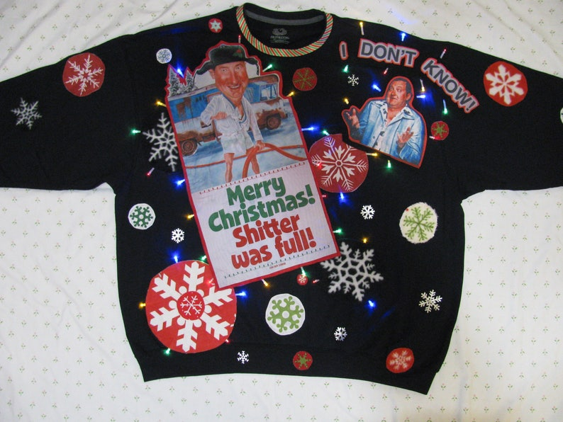 3x Ugly Christmas Sweater.3x Christmas Vacation Ugly Christmas Sweater Griswold Christmas Sweater Ugly Christmas Sweater Cousin Eddie Shitter Was Full Sweater