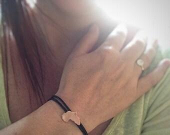Africa Bracelet, Copper Africa Bracelet, Map Pendant Bracelet, Africa Map, Copper Jewelry, Custom Jewelry, Personalized Bracelet