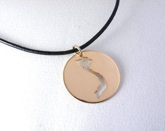 Gold Vietnam Necklace, Vietnam Map, Golden Map Necklace, Vietnam Pendant , Adoption Necklace, Map Pendant, Adoption Gift, Travel Gift