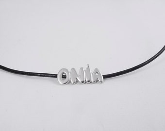 Personalized Name Pendant Your Name Necklace Initials Custom Words Personalized Words Necklace 925 Sterling Silver - Custom Made Any Words