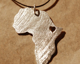 Africa Necklace, Silver Africa Map, Ethiopia Necklace, Africa Pendant, Africa Map Necklace, Custom Jewelry, Personalized Necklace