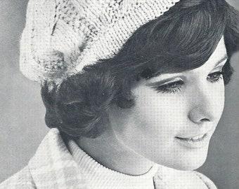 Winter Sailor Hat Pattern Vintage Knitting 60/'s Retro Classic Botany 1404