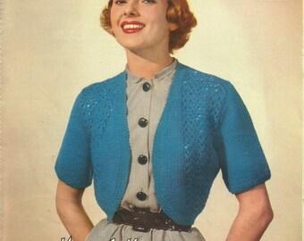 Lavenda 352 Vintage Knitting Pattern Original Ladies Bolero Jumper Cardigen