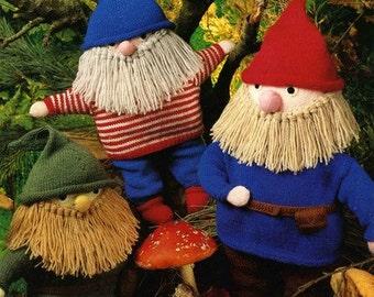 Marriner 1989 Vintage Knitting Pattern For Christmas Elf or Gnome