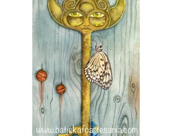 """Watercolor reproduction """"The key"""""""