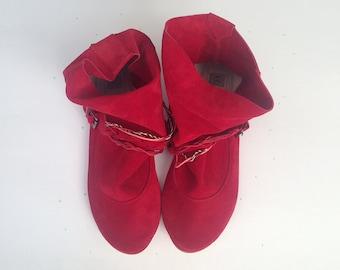 Bottines femme. Bottes en cuir pour femme. Marine Boho Boots