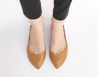 Ballet Flats Shoes Handmade in Italian Leather by elehandmade 5aa58925eda0