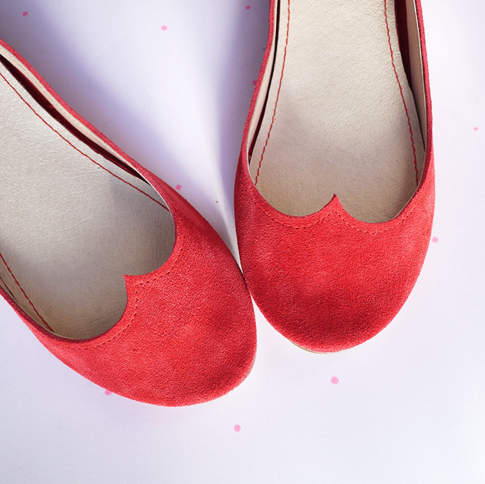 red ballet shoes. ballet flats. leather flats. red shoes. wedding shoes. bridal shoes. gift for her. personalized gift. handmade