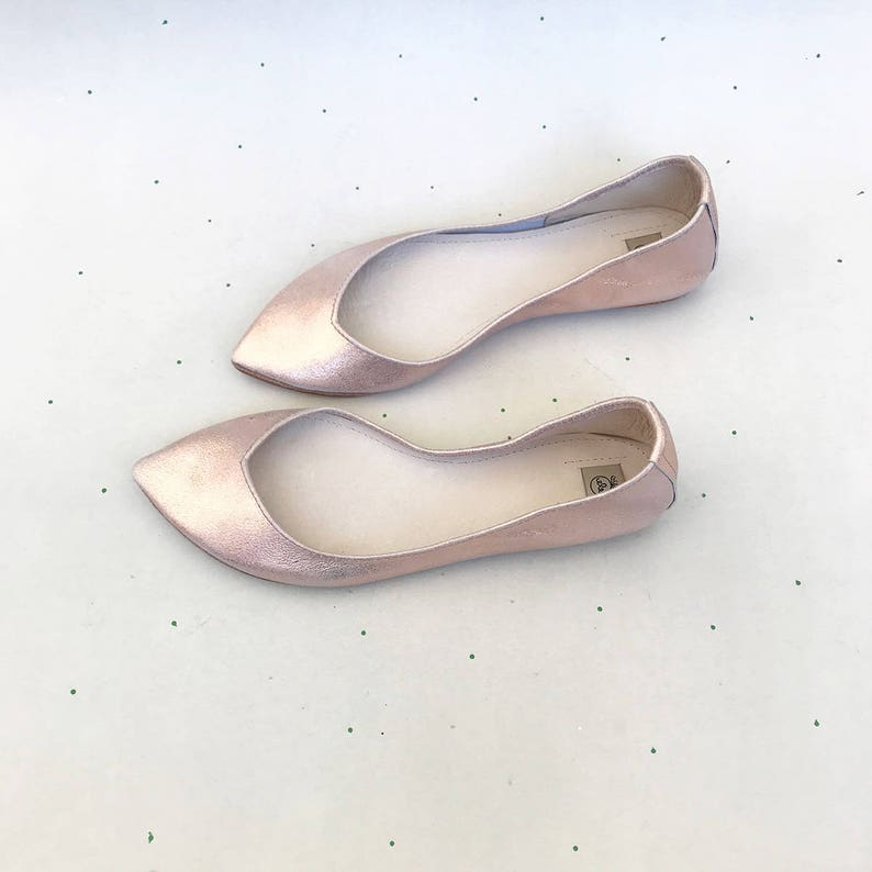 91a1ace5bb5 Rose Gold Wedding Shoes. Rose Gold Bridal Shoes. Low Heel