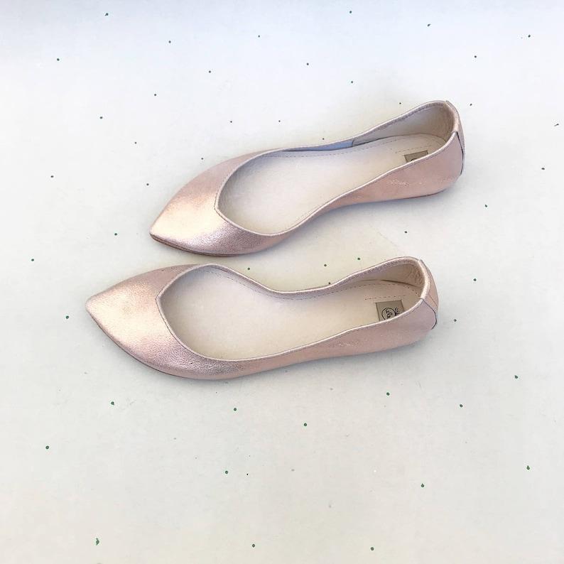 849f93d4d299 Rose Gold Wedding Shoes. Rose Gold Bridal Shoes. Low Heel