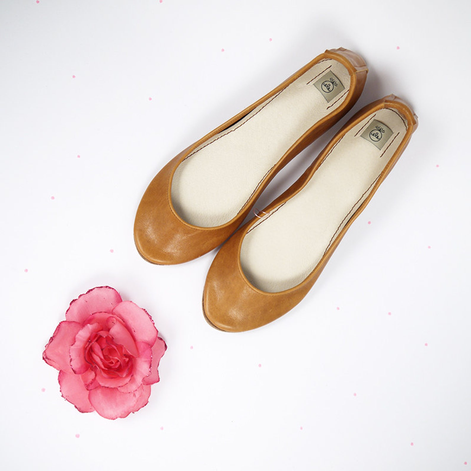 leather shoes. ballet flats. leather ballet flats. tan shoes. wedding shoes. bridal shoes. gift for her. personalized gift. hand