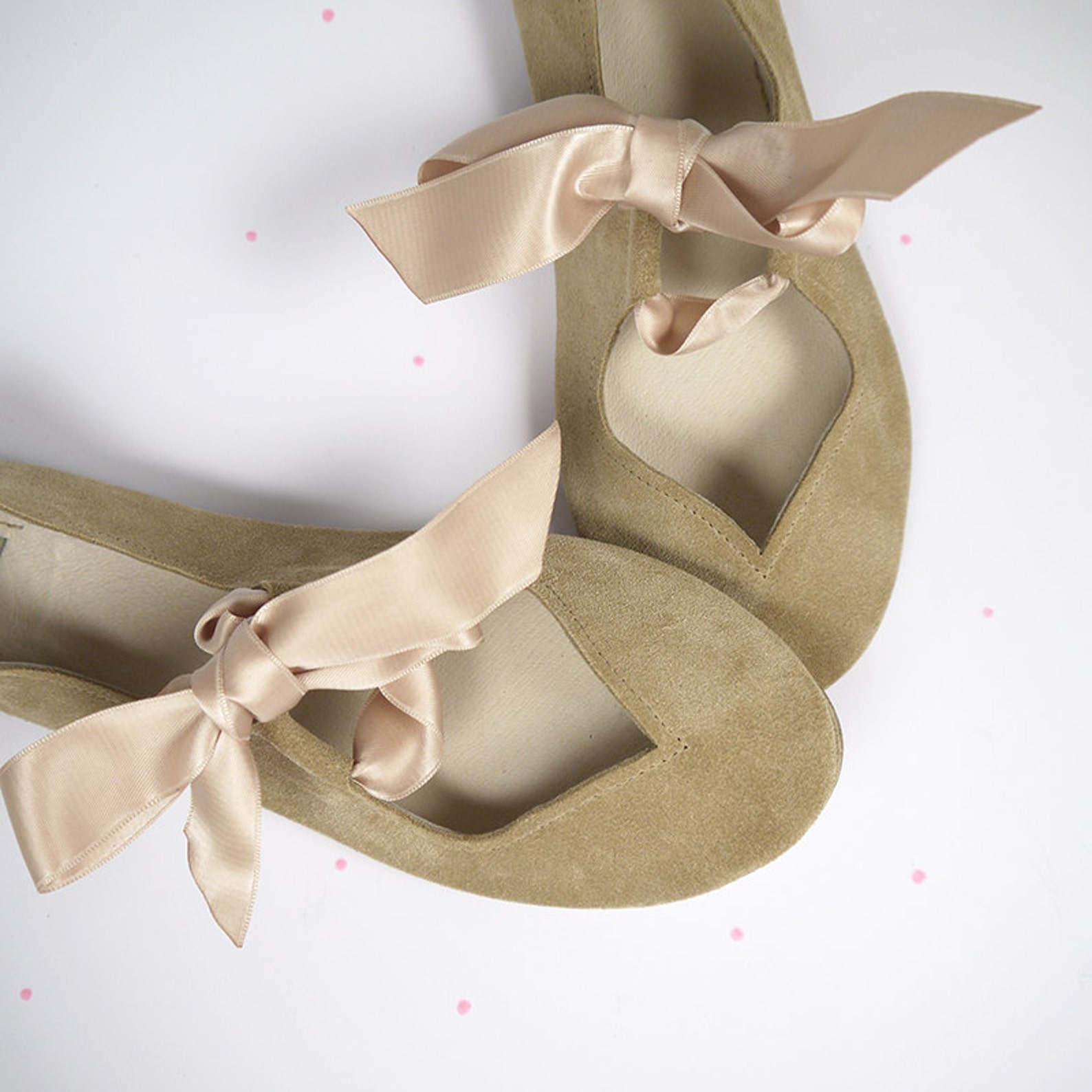 shoes on sale, 20% off, size 39, ready to ship, soft sand handmade mary jane with satin ribbons ballet flats, elehandmade shoes