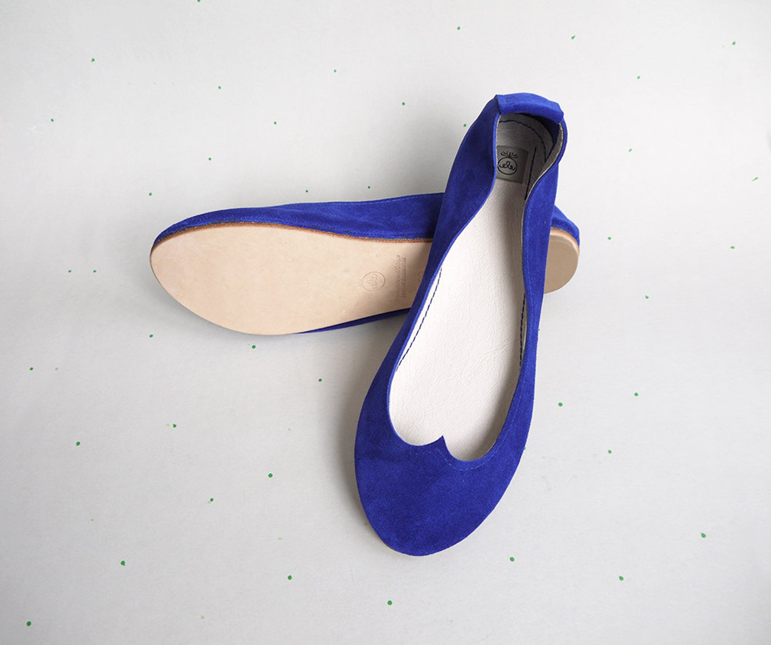 blue leather ballet flats. chaussure mariee. something blue wedding. cobalt blue shoes. royal wedding shoes. bridal shoes. eleha