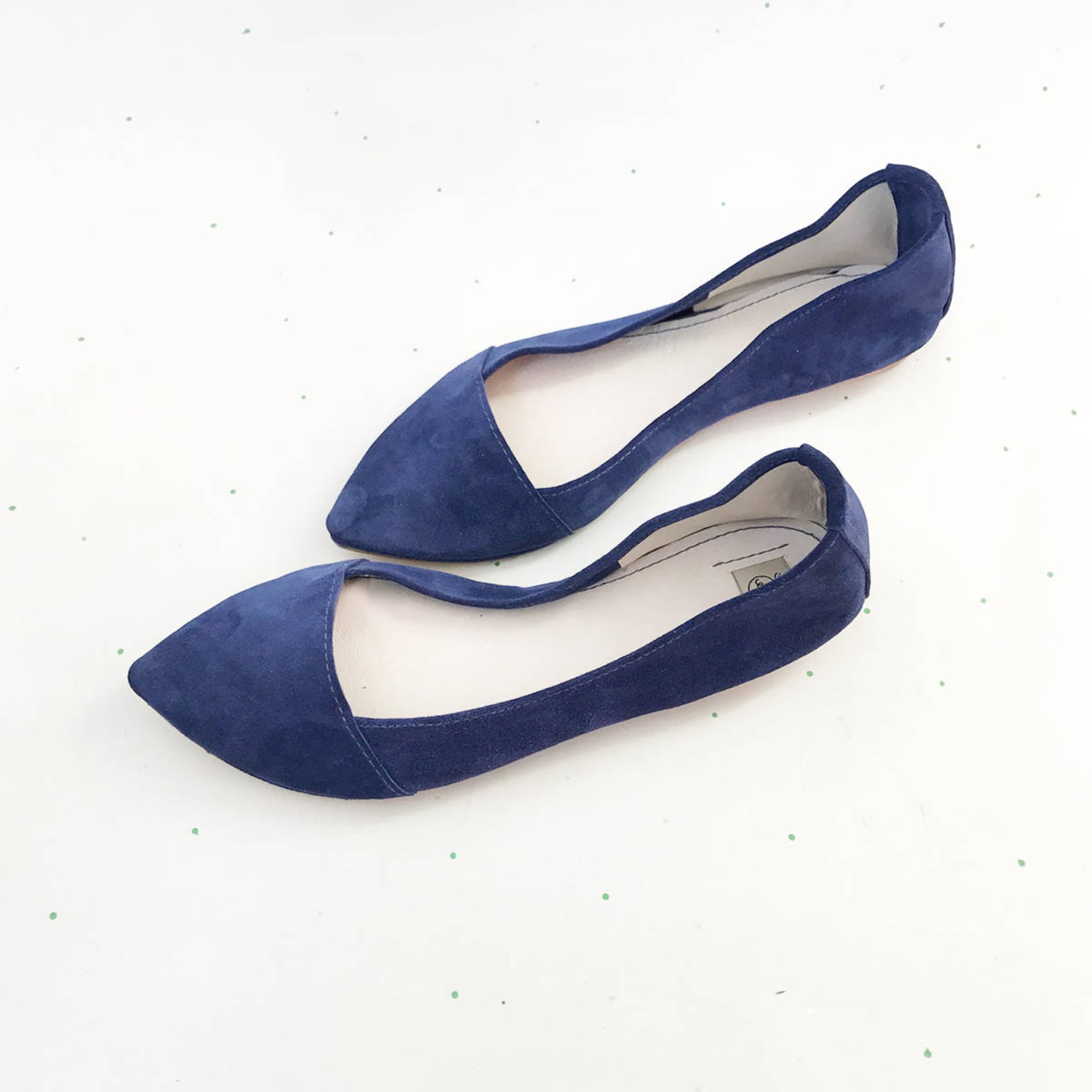 d' orsay shoes. pointy ballet flats. pointy shoes. pointy flats. pointed toe shoes. blue ballet flats. bridal shoes. somethi