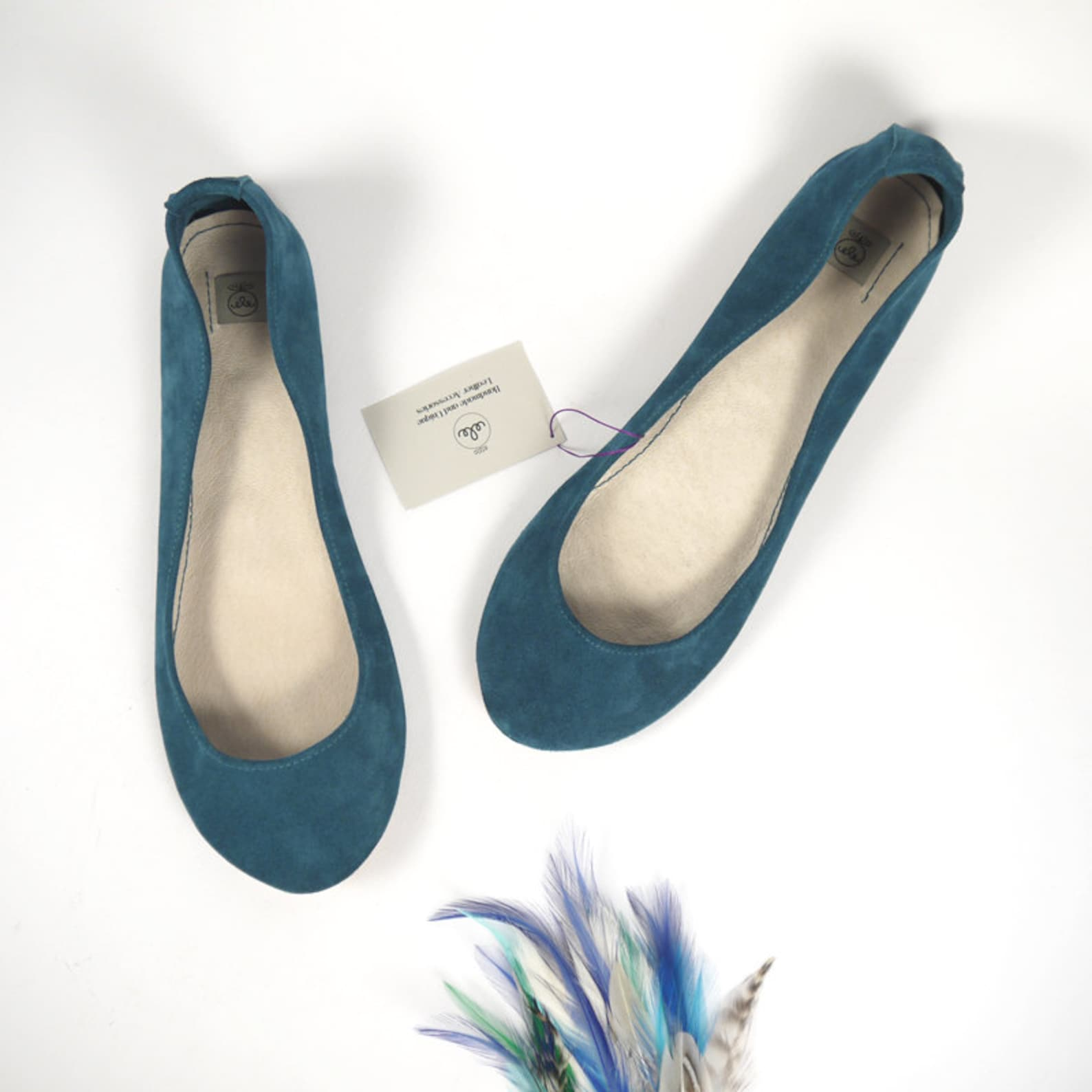 leather ballet flats. bridal shoes. women shoes. low heel wedding shoes. teal flats. italian leather shoe. bridal gift. bridesma