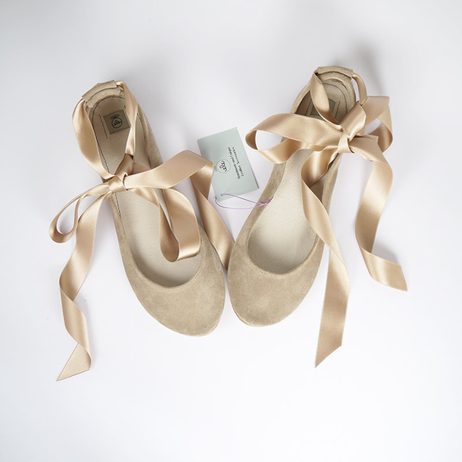 wedding ballet flats with satin ribbon. smoke rose flats. bride shoes. bridal low heel. pointe style shoes. nude flats. bridesma