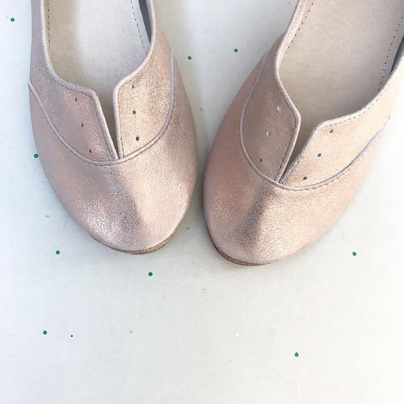1b696cfea04737 Halbschuhe Schuhe. Rose Gold Schuhe. Leder-Schuhe.