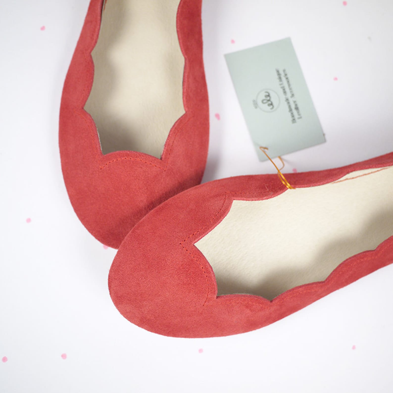 red ballet shoes. scalloped ballet flats shoes. leather shoes red. low heel shoes. bridal flats. handmade ballerinas. bridesmaid