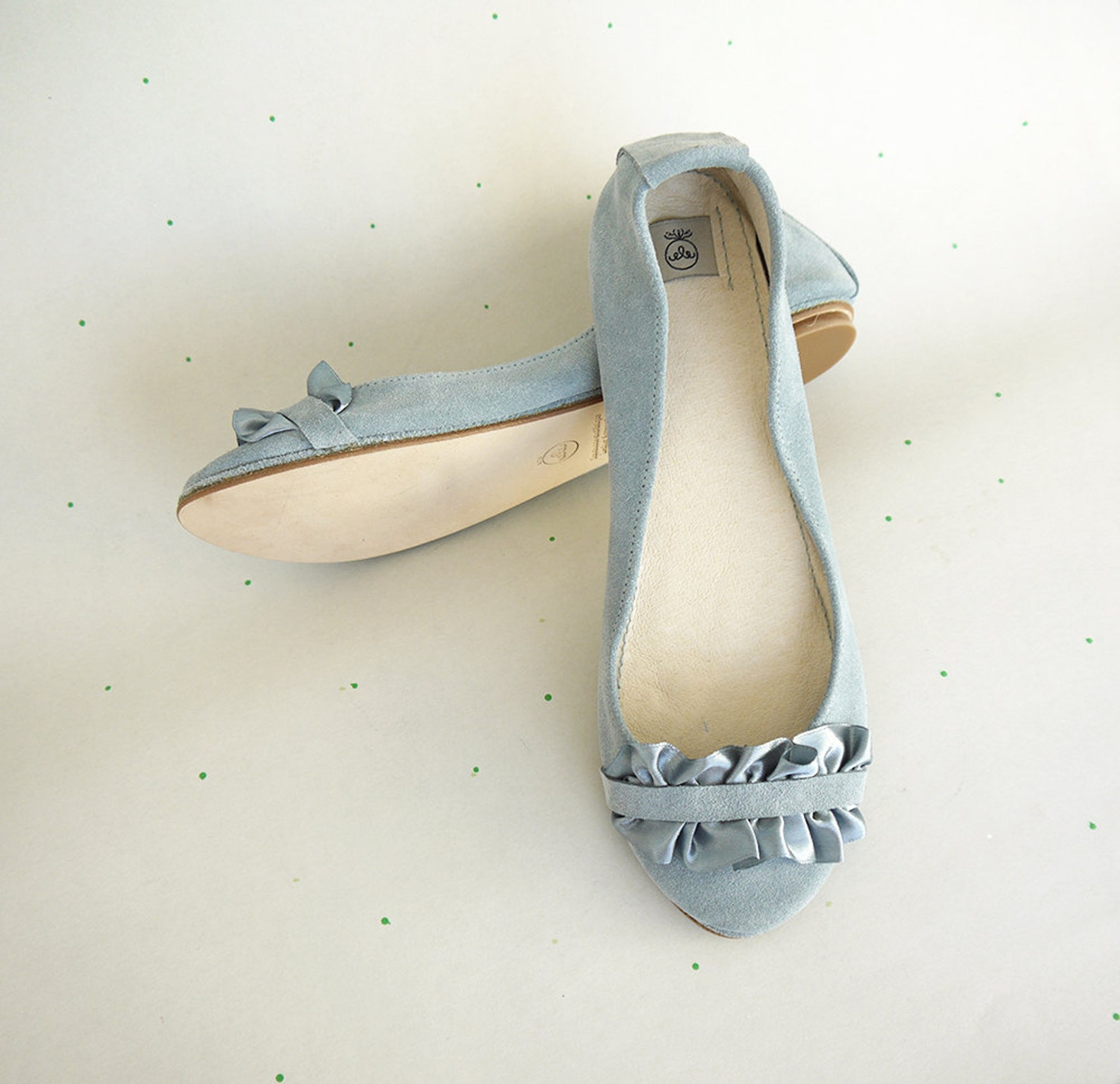 bridal shoes. wedding ballet flats with satin ribbon. bride low heel. pointe shoes. serenity leather flats. ruffle shoes. brides